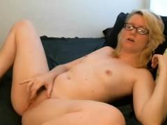 sporting-eyeglasses-that-are-sexyblonde-masturbates-titties