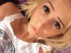 sexy blond self shot masturbation