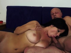 grandpa-gropes-busty-brunette