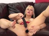 Cock starving blonde cougar Sarah Vandella masturbates for the camera