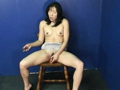 fantastic asian babe rubbing on her wet vagina all alone