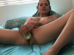 Lovely Babe With Big Tits Heidi Has A Dildo Taking Her Peach To Orgasm
