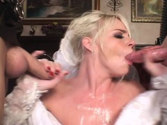 Delicious Blonde Wants To Try Working Two Cocks At The Same Time