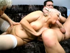 dirty mature lady gets spit roasted in this naughty threesome