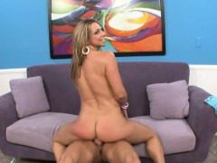 Bodacious Blonde Delivers A Nice Blowjob And Then Gets Pounded Rough