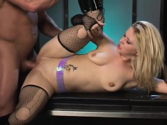 lustful blonde in black boots gets her hungry butt fucked deep and hard