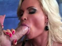 Busty Blonde Milf Diamond Foxxx Loves Eating Cum