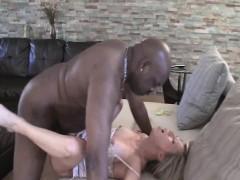 blonde hot slut gets her vagina fucked by black man