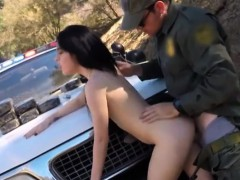 russian babe fucked by border patrol guy on the border porn