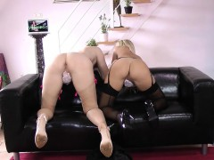 Stockings brit fingering