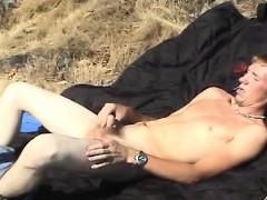 blonde-twink-dean-with-hard-dick-masturbates-outdoor