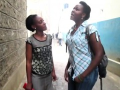 Passionate Black Lesbians Kiss And Fuck In Bathroom