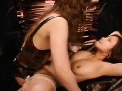 Kinky Asian Mistress Fucks Herself And Her Slave With A Dou