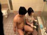 Alluring Japanese babe with nice tits has a stiff rod filli