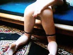 Redhead Fingernails Her Vagina Together With Her Dildo Online