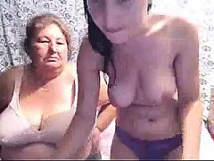 Busty Teen & Grandma On Webcam