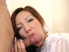 mirai uses her lips and tight muffin to devour a massive penis