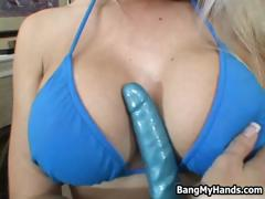 Blonde With Big Tits Pleasing Her Pussy Part2
