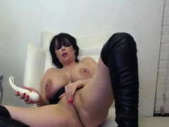 Busty Mistress Lolly Coxx With Leather Boots And Filthy Fun