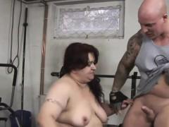 cute trainer bangs a big bitch