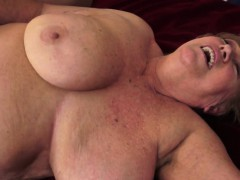 chubby mature penetrated on the bed