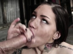 dominated-inked-babe-deepthroats-and-gags