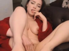 sweet woman with tight cunt masturbating