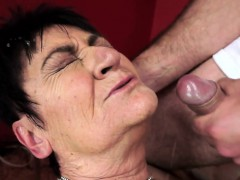 Saggytits Gilf Facialized After Sex