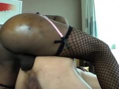 Black Tranny Barebacking Lucky Dudes Ass