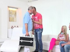 Stud Assists With Hymen Physical And Screwing Of Virgin Nymp