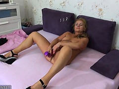 Oldnanny Old Mature Doing Striptea Sheryl From 1fuckdatecom