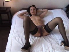 lovable-woman-in-high-heel-shoes-toys-and-tights-himself