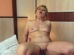 Chubby Grandma Rides Cock In The Bedroom