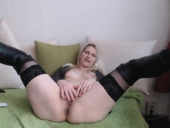blonde-with-tits-jacks-off
