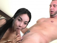 Thai Ladyboy And Nasty Man Ass Pounding Bareback In Bed