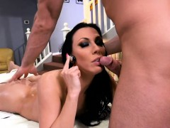 Huge tits milf massaged and screwed hard by her perv masseur