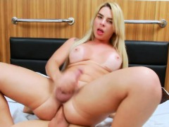 Big Round Tits Shemale And Horny Man Fucking Each Asses