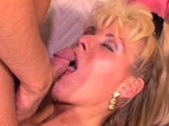 blonde milf backdoor pounded butt to mouth cumshot