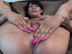 Casting Tgirl Cocksucking While Jerking Off
