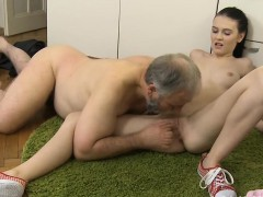 Steaming Young Sweetheart Bonks Old Lad