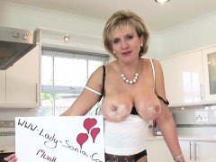 Unfaithful English Milf Lady Sonia Presents Her Large Boobs