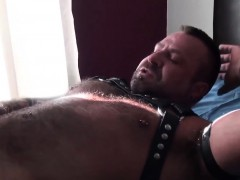 Inked Bear Assfucking Leather Strapped Bottom