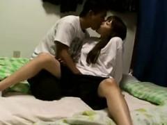 sweet japanese schoolgirl exchanges oral pleasures with her