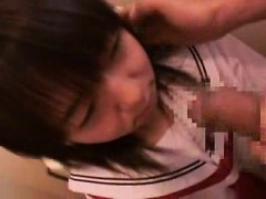 Adorable Japanese Schoolgirl Worships A Long Dick And Gets