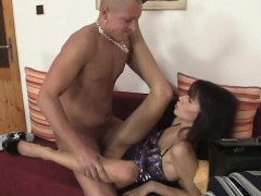 bald man finds out his slutty girl