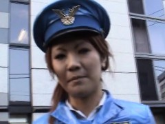 Subtitled Japanese public nudity miniskirt police striptease