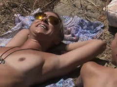 Two Super Sexy Cougars Went On Nudist Trail For Tanning | Porn Bios