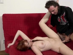 Shy Redhead Teen With A Hot Body Enjoys An Incredible