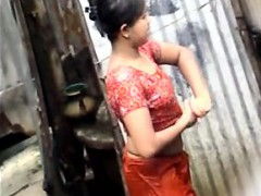 indian woman full exposed in public