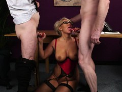 Busty Spex Gilf Facialized In A Threesome